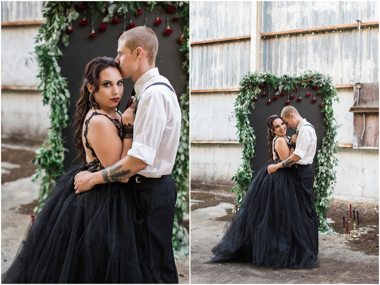37 Wedding Hairstyles For Black Women To Drool Over 2017: Abandoned Mill Black Lace Styled Wedding: Oregon Wedding